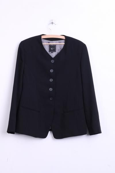 Marc Aurel Womens 40 M Blazer Top Suit Black Single Breasted - RetrospectClothes