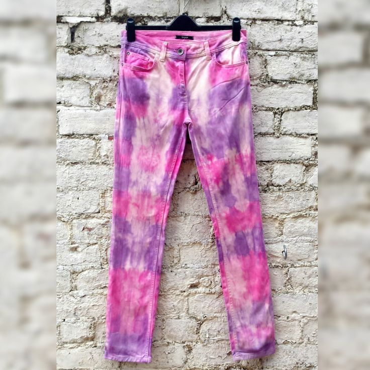 Pastel Jeans Skinny Jeans Tie Dye Jeans to fit UK size 12 or US size 8 Hipster…