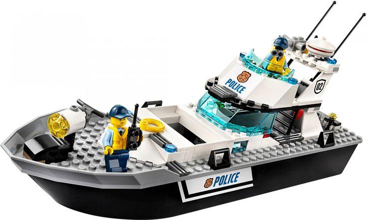 LEGO City Politie Politie patrouilleboot 60129 Vervoer de boeven aan boord van de Politie patrouilleboot inclusief cel met uitbreekfunctie, boevenboot met anker en ketting, handboeien, rugzak, bankbiljetten en 4 minifiguren. https://www.olgo.nl online LEGO Shop