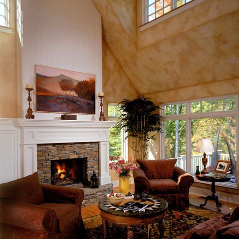 Slate Fireplace Tile Raised Hearth Design Ideas, Pictures ...