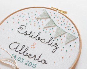 Wedding embroidery hoop