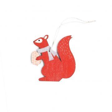 Kerstboomhanger, hout, eekhoorn