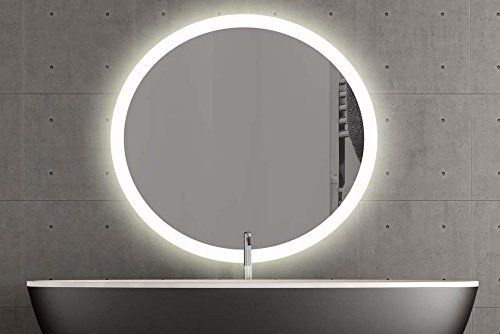 London Runder Spiegel Mit Led Beleuchtung Badspiegel Zimmer Spiegel Beleuchtet 60cm Warmweiss Amazon De Led Spiegel Badspiegel Beleuchtet Led Beleuchtung