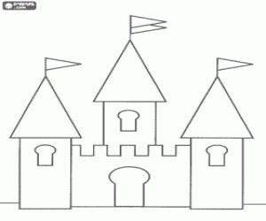 Resultado de imagem para molde castelo