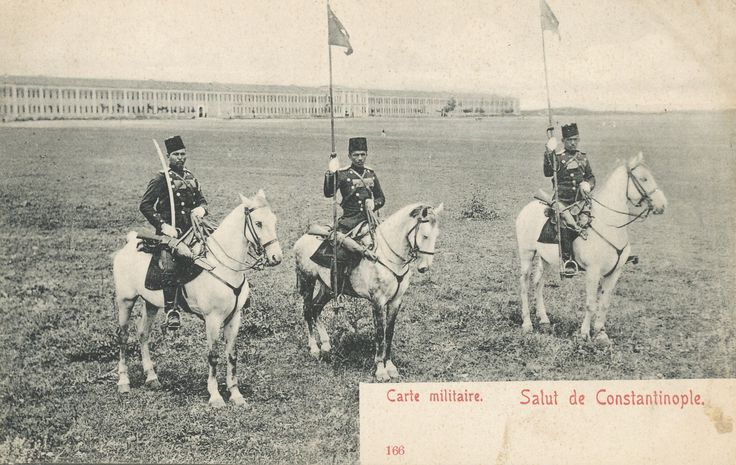 "Ottoman cavalry soldiers. Max Fruchtermann, 1852-1918. The most prominent early publisher of Ottoman postcards from the eastern border of Austria-Hungary he came to the central part of the Ottoman Empire in the 1860s, at the age of seventeen he opened a frame-shop at Yüksekkaldirim Istanbul. It is hard to underestimate his role in the publishing scene that followed. He was one of the first ""editeurs"" (if not the very first) to create postcards depicting the Ottoman Empire."