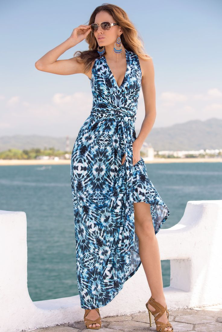 Boston Proper Beach glass maxi dress #bostonproper