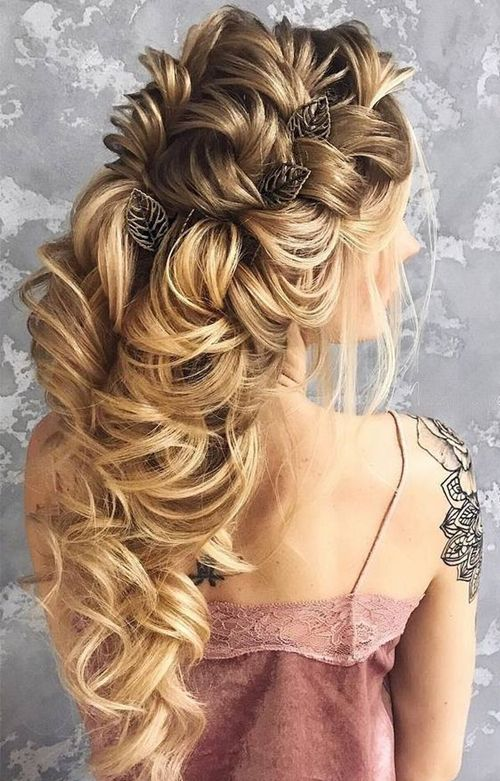 Eye Catching Long Prom Hairstyles 2018 Wedding Hair Pinterest