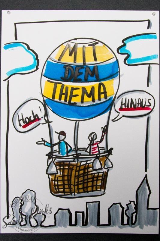 Auch mal als Abschluss-Chart: Kommt gut nach Hause! Mini - Flipchartkurs: Die Ballonfahrt https://sandra-dirks.de/mini-flipchartkurs-die-ballonfahrt/