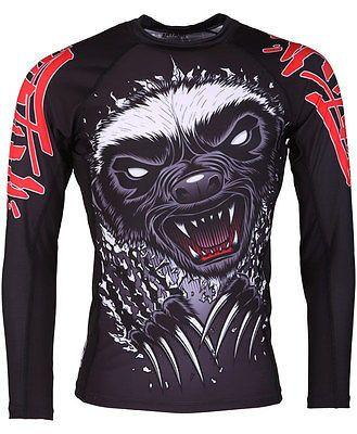 Tatami Honey Badger V4 Rash Guard NOGI Jiu Jitsu MMA Wrestling
