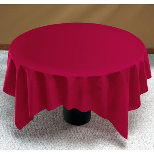 Linen Like Burgundy Round Table Cover Round Table Covers Table Cloth Table Covers