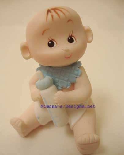 12 Baby Boy Sitting With Bottle- Party Favors