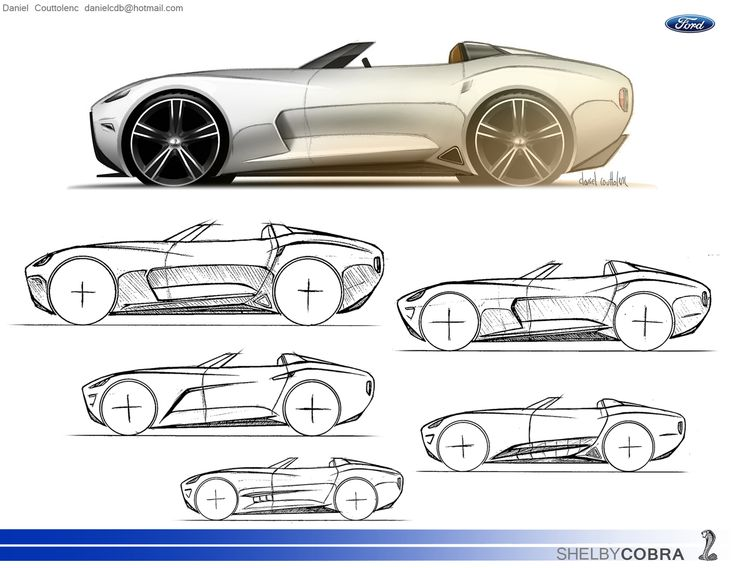 Shelby Cobra Concept study by Daniel Couttolenc