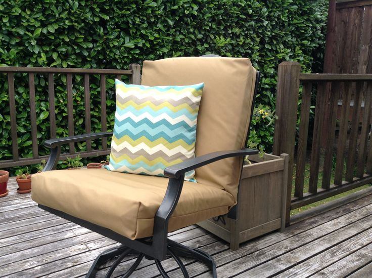 Recovered patio cushion! Super easy project!