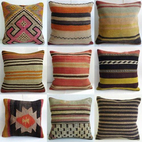 Sukan / Organic Modern Bohemian Throw Pillow Handwoven by sukan, $90.00