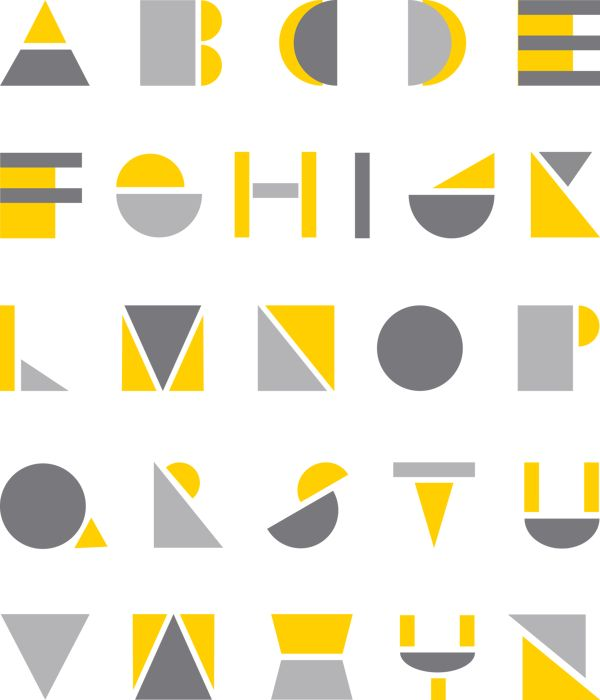 Ami Littlefair  - Inspired by the constructivist movement, she created Geometric Typeface (2013) by superposing and juxtaposing geometric solids.