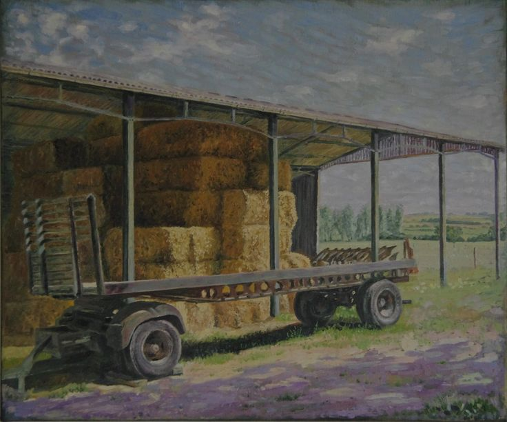 Scriversby Farm - Oil painting by Tom Wormell