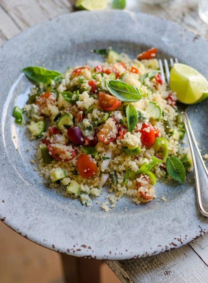 Cous cous con verdure croccanti con salsa di sesamo #tahini
