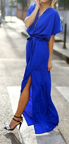 Regal in Royal Blue - not sure about the style, but love the color. I would love a maxi dress that I could dress up a bit for a wedding or something.