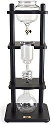 Christmas deals week Yama Glass 6-8 Cup Cold Drip Maker Straight Black Wood