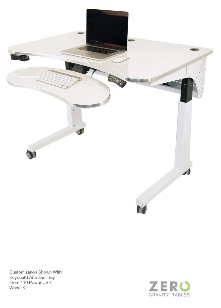 The Deluxe Electric Lift Standing Desk can be used with both