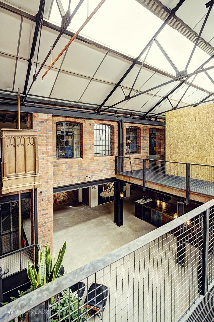 Love the loft interiors pinterest industrial for Arquitectura industrial