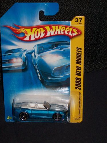 Hot Wheels 2008 037 37 New Models Blue Camaro Convertable Concept 1:64 Scale Collectible Die Cast Car