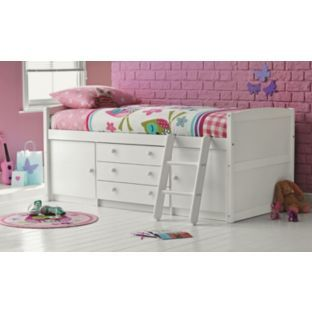 Buy Tory Single Mid Sleeper Bed Frame White At Argos Co