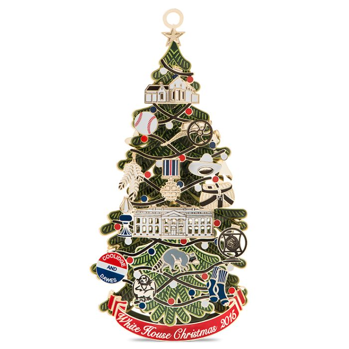 2015 Ornament Front.  White House Christmas ornament.