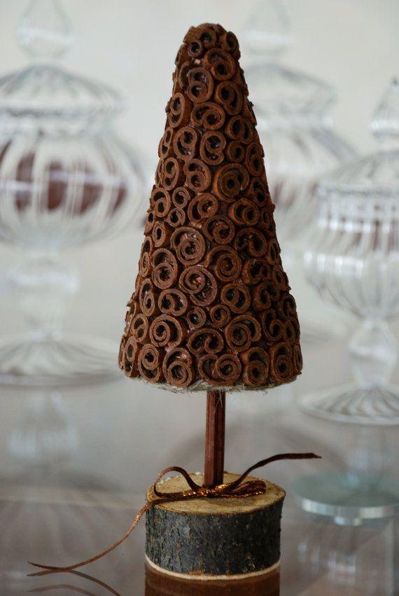 Winter tree  Christmas tree  Topiary  Cinnamon by CadeauDeLaNature