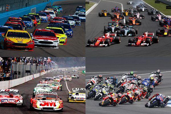 Calendario carreras Formula 1, Super TC 2000, Nascar