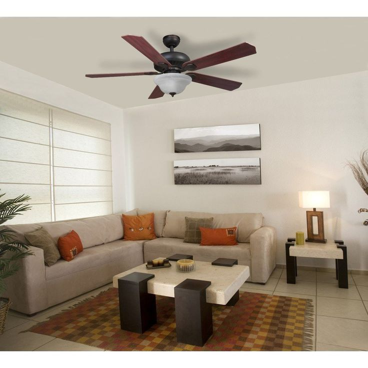 Harbor Breeze Crosswinds Oil Rubbed Bronze Downrod Or Flush Mount Indoor Ceiling Fan With Light