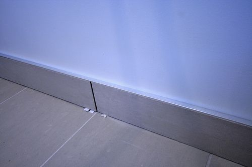 Use Tile As Baseboard In Bathroom Bath Pinterest Tops Silver And In Bathroom