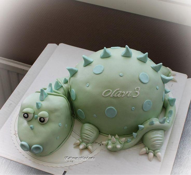 Dinosaurus-kakku 3v-synttäreille :D