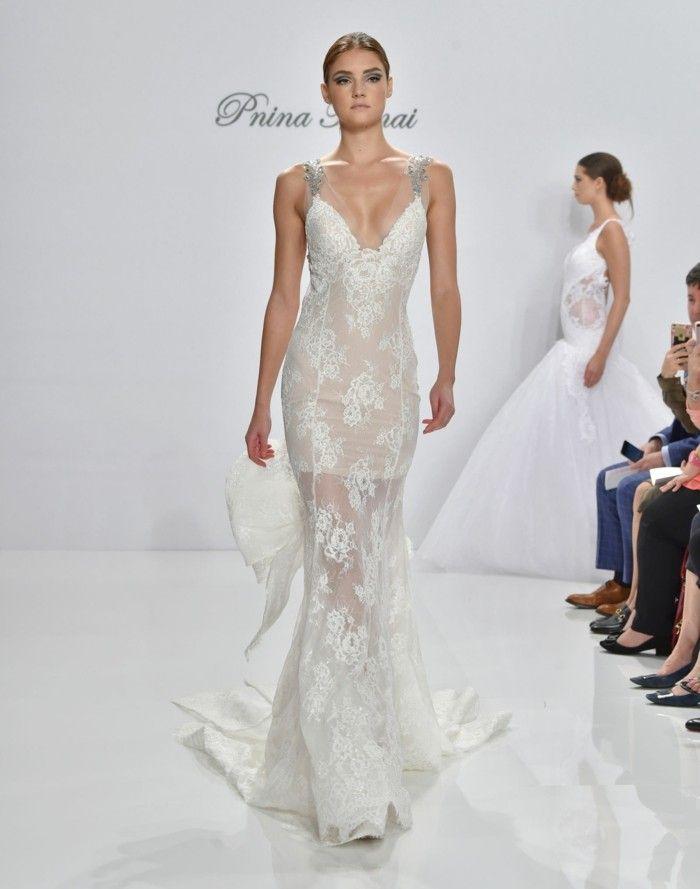 elegant lace on wedding dresses