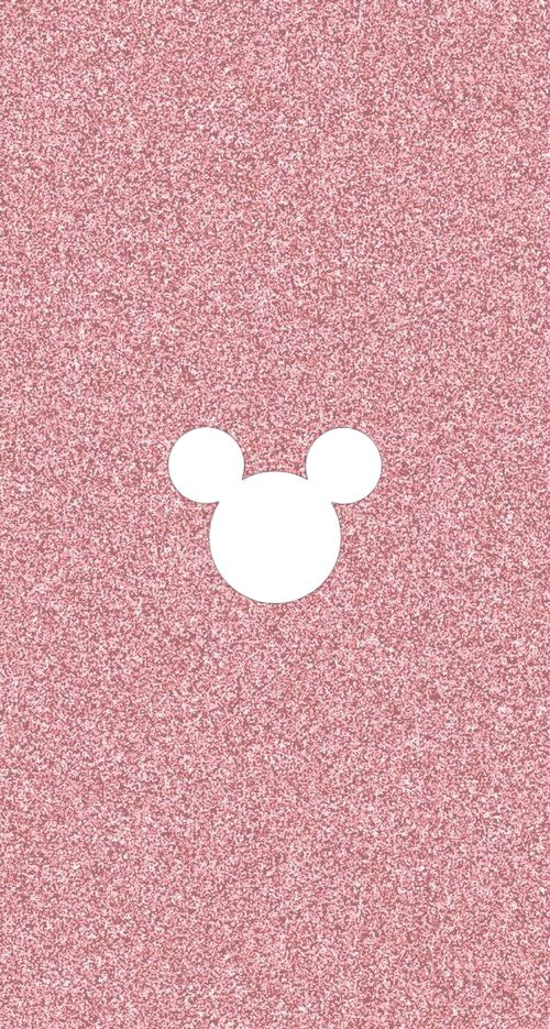 Mickey Mouse Disney Instagram Stories Highlight Cover Pink Glitter