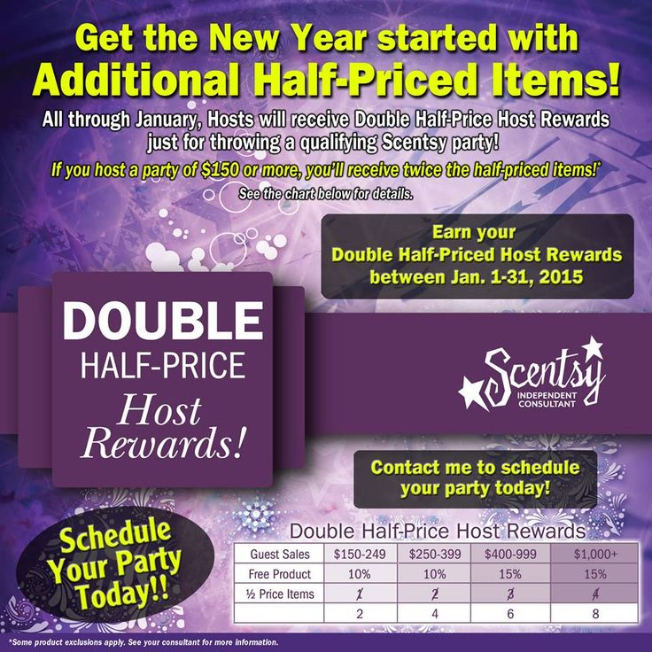 January Is Double Half Price Rewards When You Host A Party Let Me