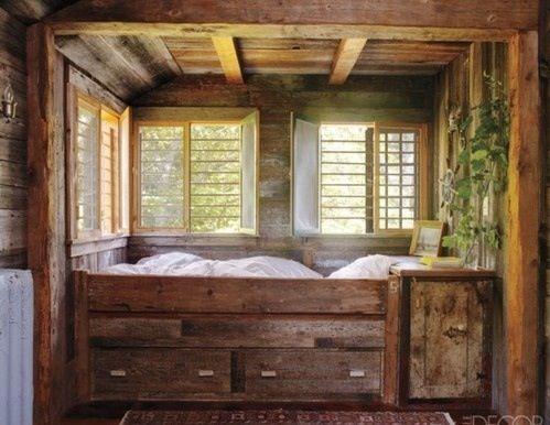 Holzbett rustikal hoch  Die besten 25+ Rustikale schlafzimmermöbel Ideen auf Pinterest ...