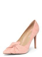 Womens Pink 'Gotcha' Twisted Bow Court Shoes- Pink