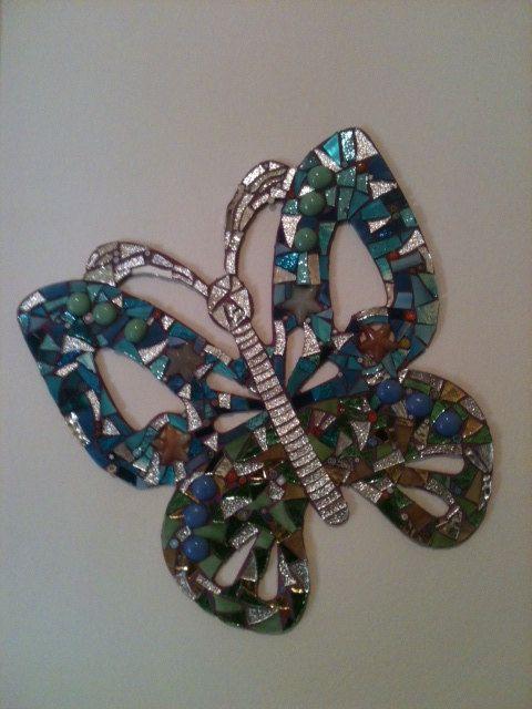 Hand made glass mosaic with Millefiori Murano. by LelucciolediPapi, €75.00