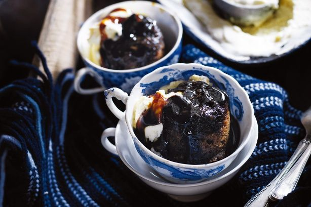 Retire to the living room and enjoy these magic treacle puddings in front of an open fire.