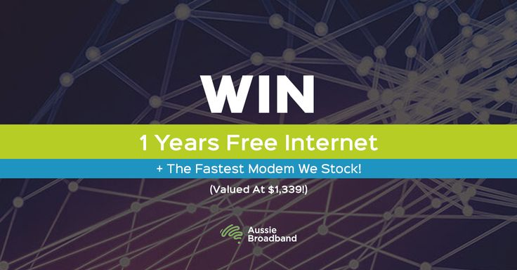 Win 1 Years Free Internet + The Fastest Modem We Stock! (Valued At $1,339). Plus find out what speed nbn™ internet you can get in your location!