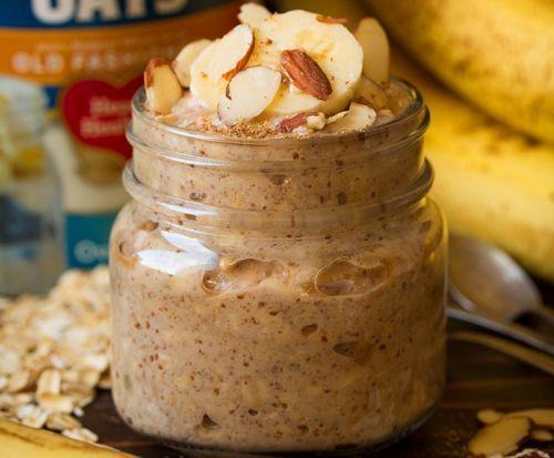 Recette facile de gruau froid aux bananes et amandes