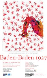Artist Georg Baseliz not only was the inspiration for our production design for Baden-Baden 1927, performed in October 2013, he also contributed his piece Fist/Pugno (1988, Oil on canvas) for our set and for our poster.