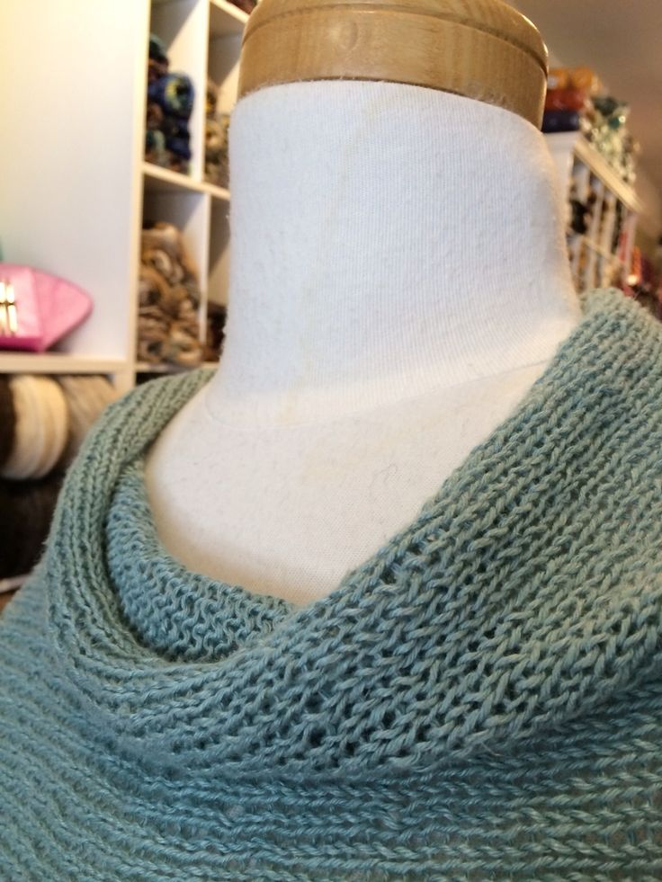 Folded Poncho Repurposed for Summer | Three Bags Full Knit Shop - Vancouver