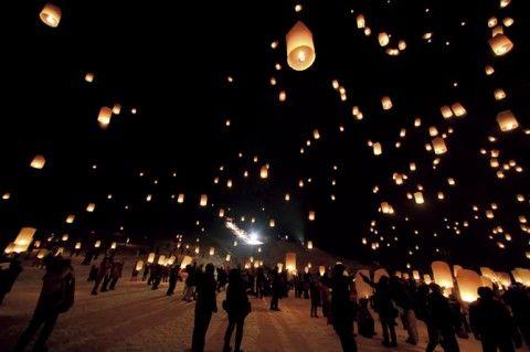夜空に舞う灯りに感動!夢のようなキャンドルイベント【関東・東北】
