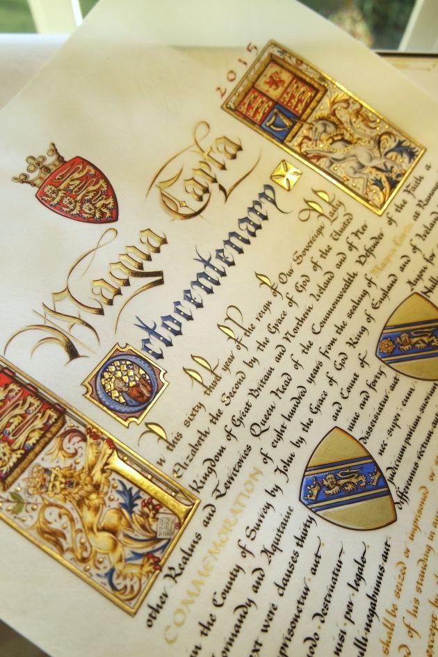 Magna Carta octocentenary page - Neil Bromley