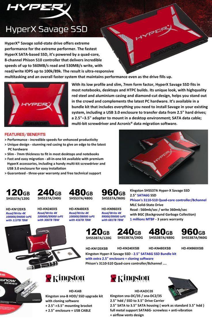 HyperX Savage SSD