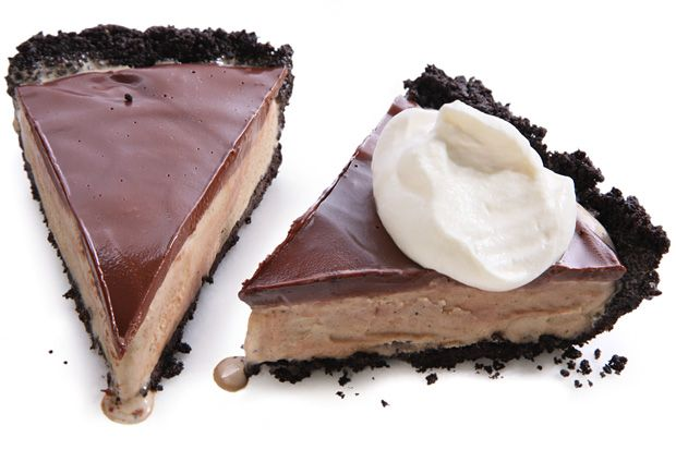 Espresso Mud Pie - Mud pie—not to be confused with Mississippi mud pie, which is a chocolate pie—needs only a chocolate cookie crust, coffee ice cream, and fudge sauce