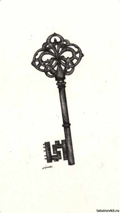 Pin Antique Skeleton Key Tattoos Otugunesa On Pinterest
