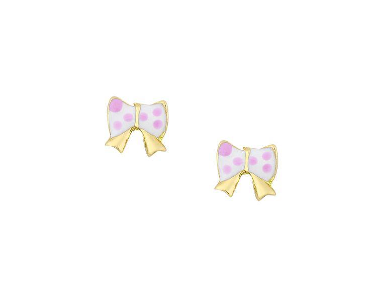 lovely gold earrings in 14K